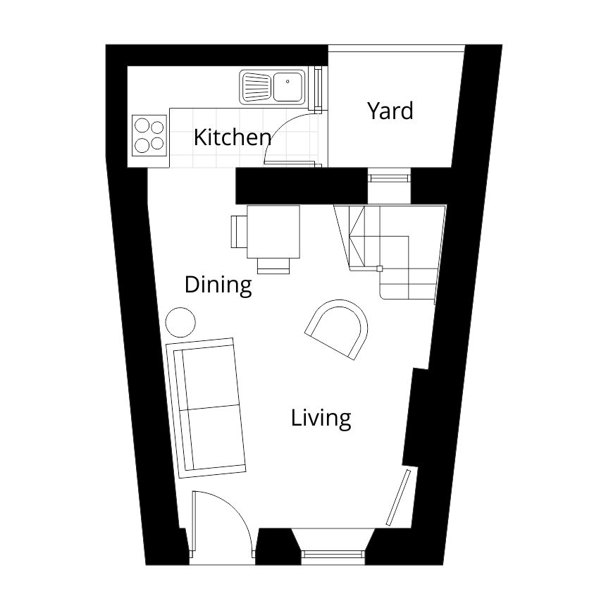 brampton holiday cottage home rent self catering cumbria existing ground floor plan